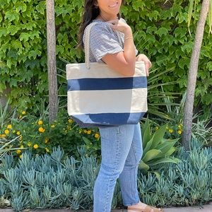 Rope Handle Cotton Canvas Tote